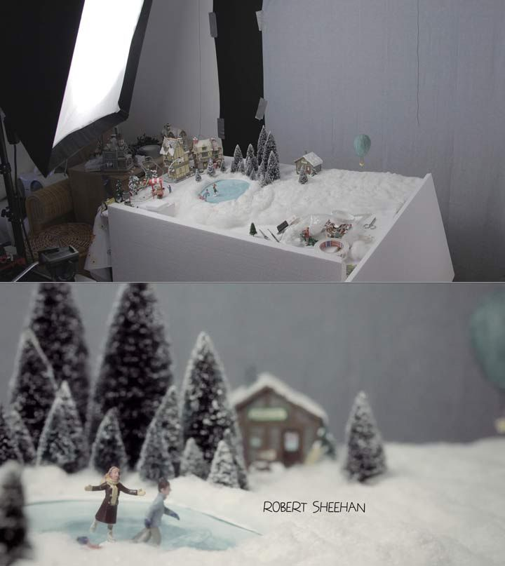 """Miniature sets and tiny props were used to create the title sequence for the X-mas movie """"The Borrowers""""."""