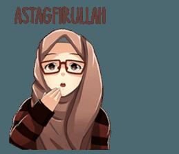 Latest Funny Emoji  A sticker about beautiful women wearing a hijab. by Jaenal Arifin. 9