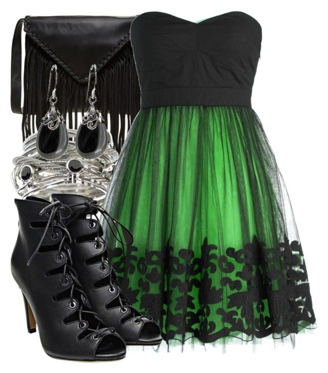 """Slytherin"" by saffire9975 ❤ liked on Polyvore featuring J.J. Winters, Charriol, women's clothing, women's fashion, women, female, woman, misses and juniors"