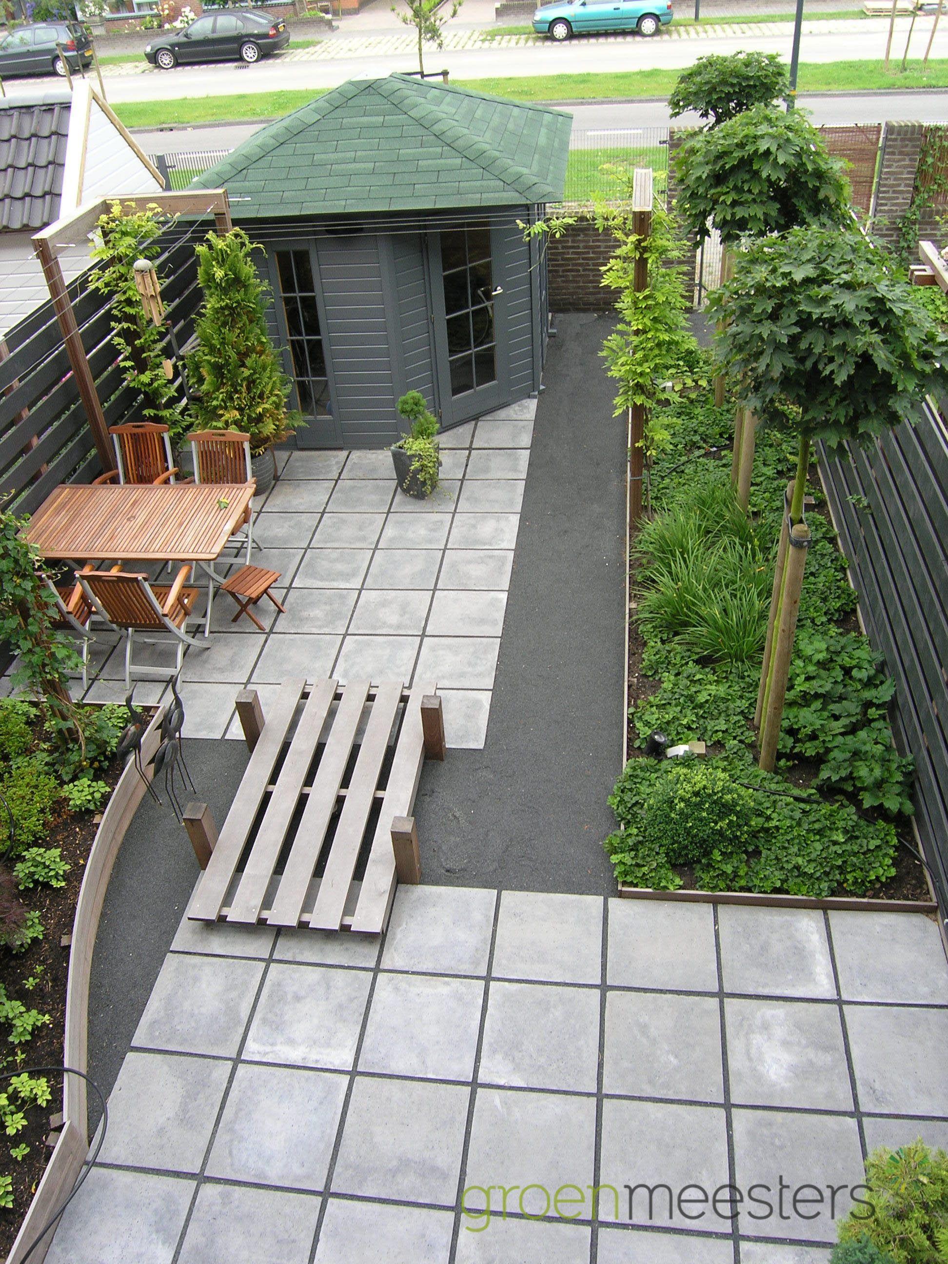 Graniet Tegels Tuin.Tegels Afgewisseld Met Graniet Split Bestrating Tuin Ontwerp