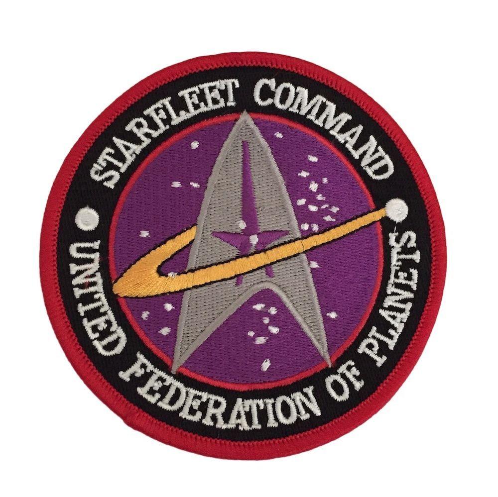 56e07c99b4d Star Trek Original Series Starfleet Command UFP Logo Embroidered Iron On  Patch…