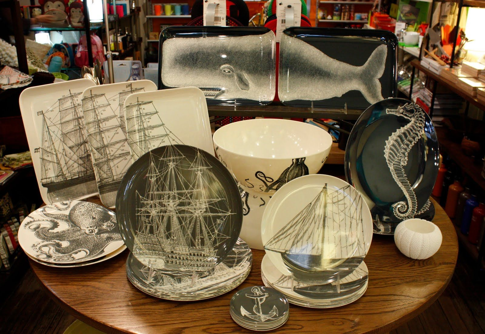 Fantastic! Thomas Paul\'s new nautical-themed melamine dinnerware ...