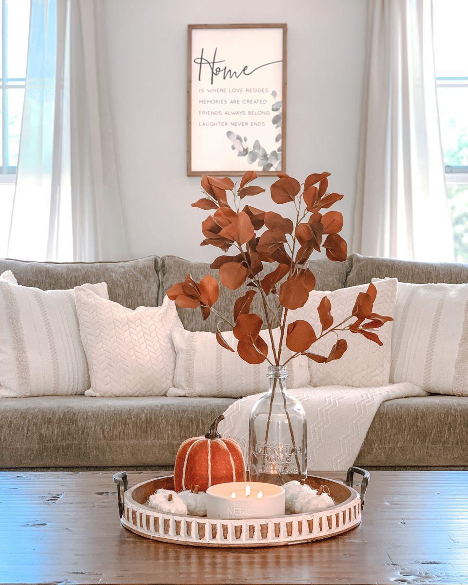 Photo of Coffee table fall decor