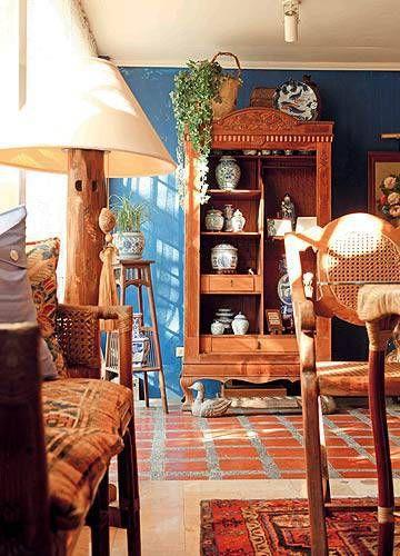 Boho Chic Style Something Old Something Blue Filipino Interior