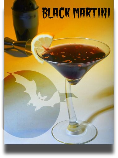 Friday's Featured Cocktail -The Black Martini