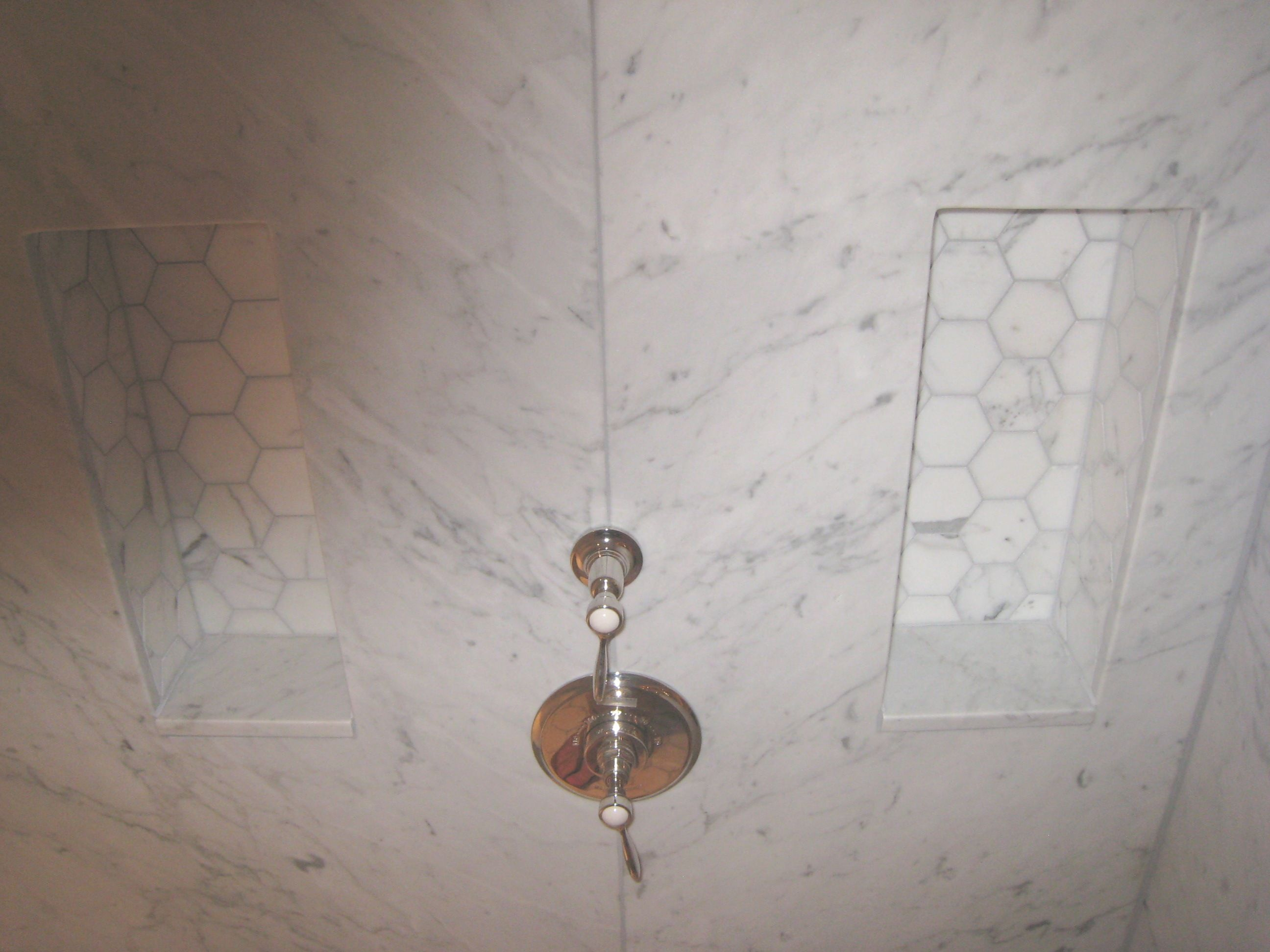 marble slab wall shower niche - google search | s&p master bath