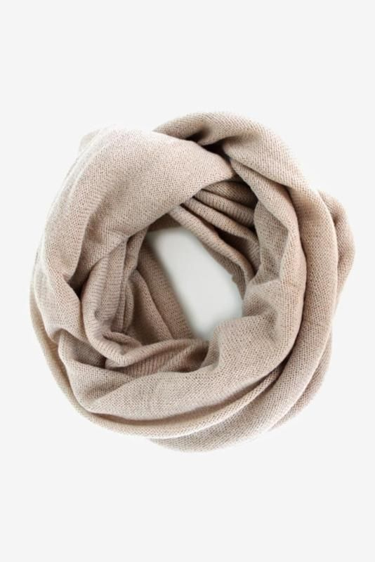 A lovely oatmeal hue scarf (& sooooo soft) is easy to toss onto any outfit. $26