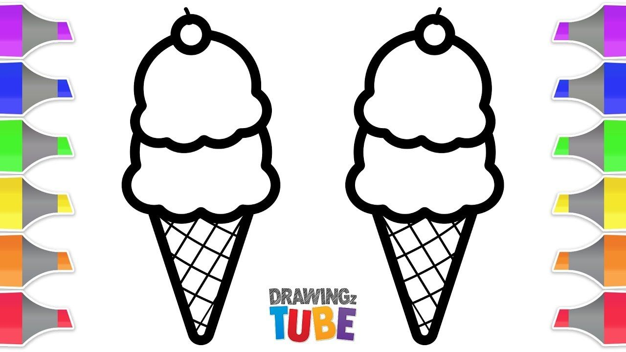 Ice Cream Cone Coloring for Kids Coloring Pages for Kids