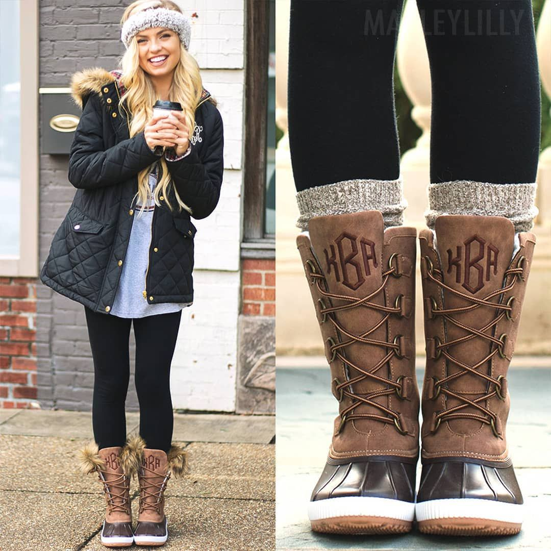 NEW #Monogrammed Tall Duck Boots