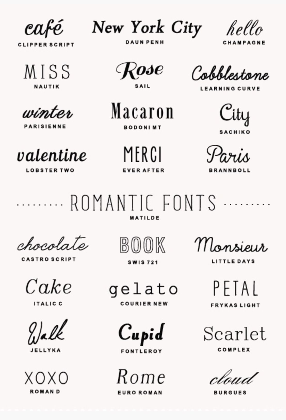 Pin By Tema Mercado On Type Romantic Fonts Typography Fonts Lettering Fonts