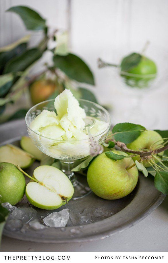 Green Apple Sorbet | Recipes | The Pretty Blog