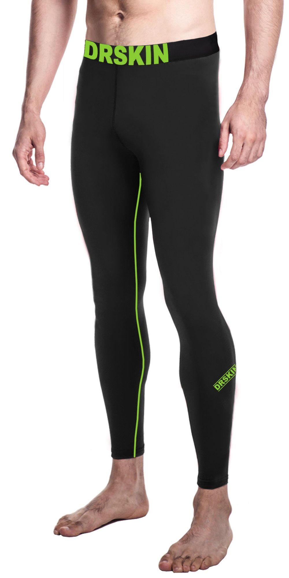 6610cdc10c65fe DRSKIN Compression Cool Dry Sports Tights Pants Baselayer Running Leggings  Yoga Rashguard Men (Simple LG