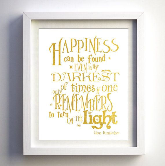 Harry Potter Inspired Nursery Wall Art Harry potter poster quote ...