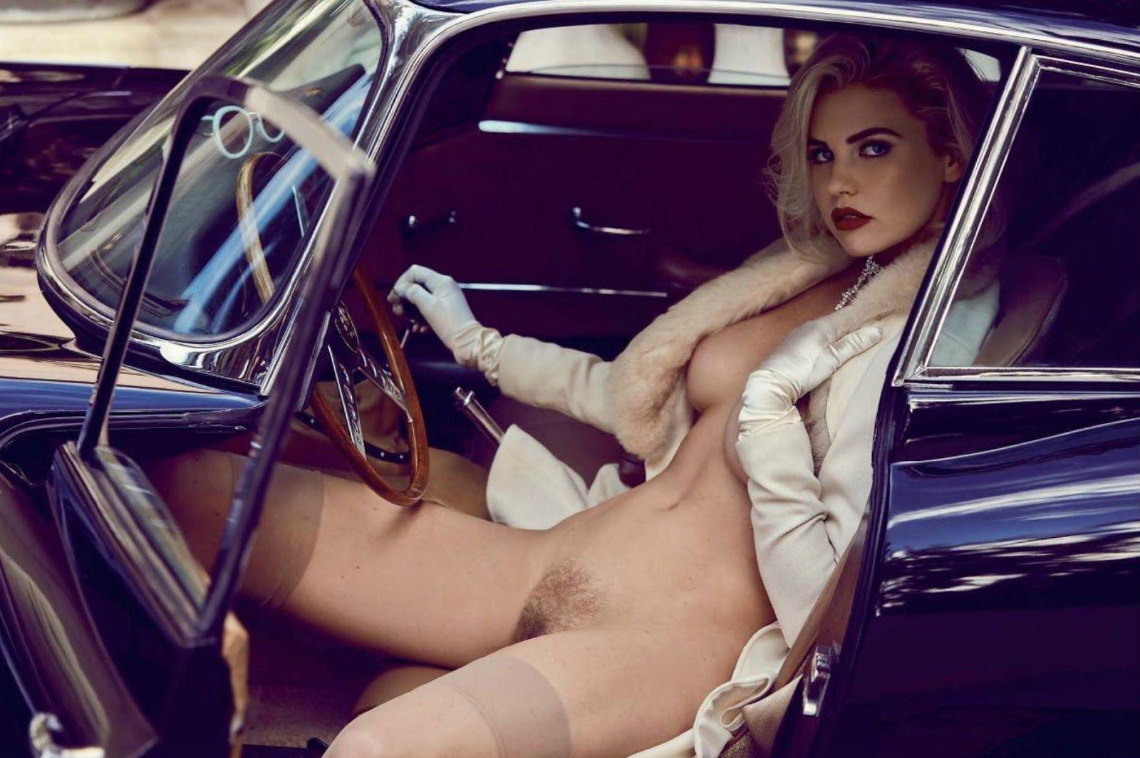 naked automotive sales girl