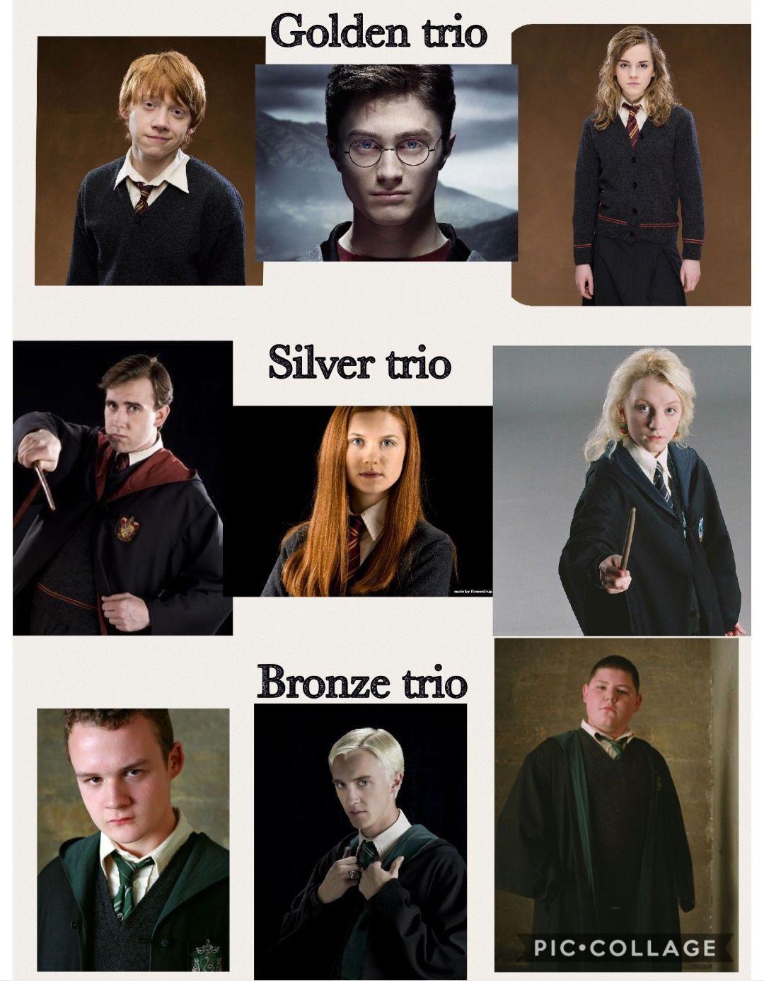 Golden Silver And Bronze Trio Harrypotterfacts Harry Potter Feels Harry Potter Memes Hilarious Harry Potter Actors