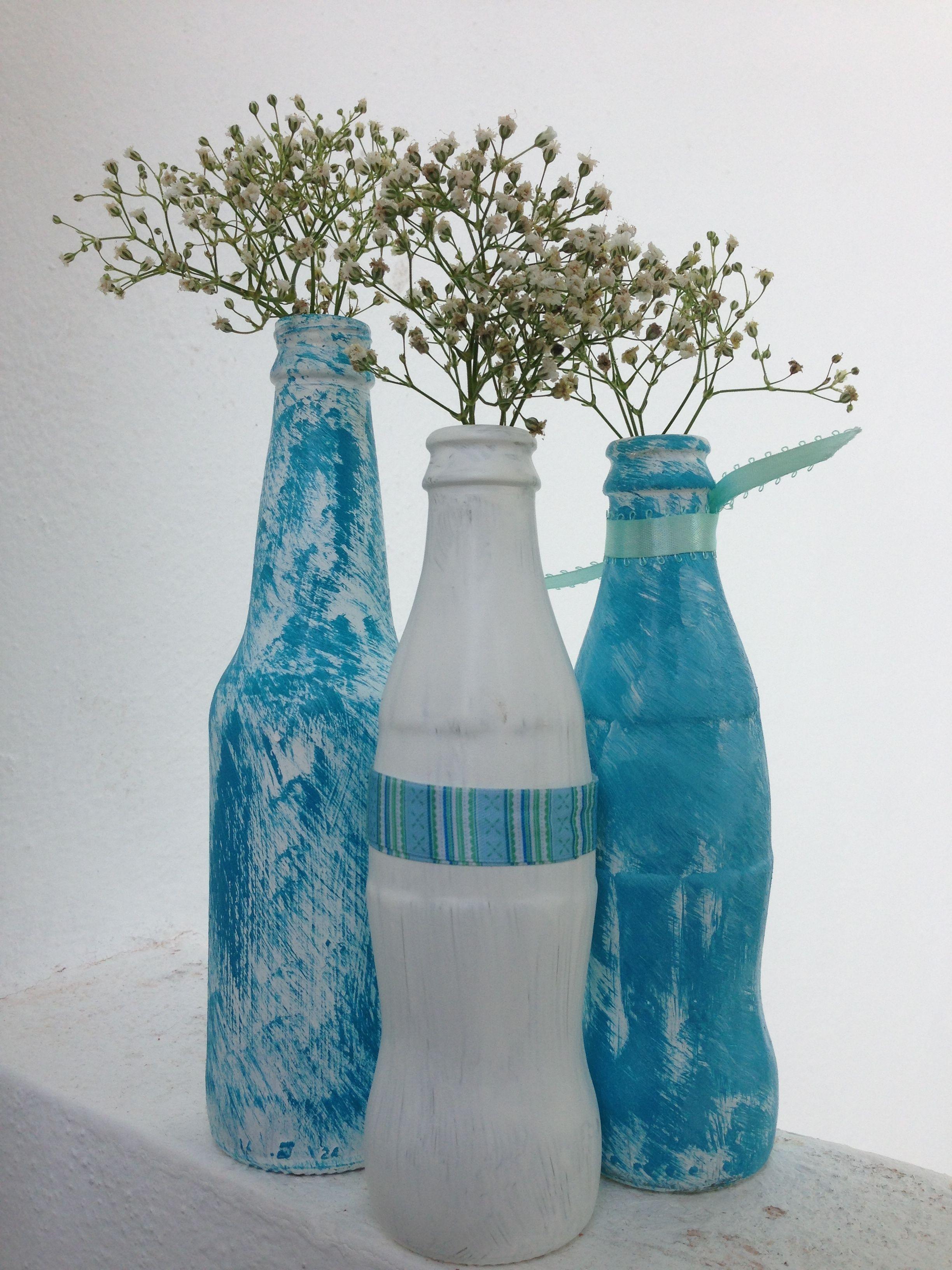 Decoración para celebraciones. Botellas pintadas a mano. Pedidos en Playa del Carmen, Quintana Roo, Mex. 9841134900