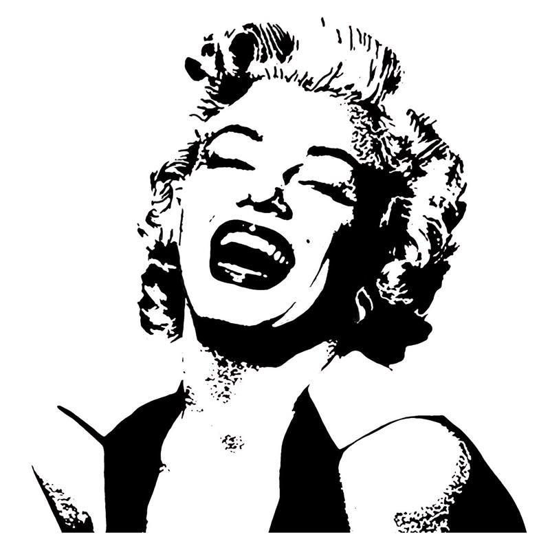 Large Marilyn Monroe Silhouette Style 1 Vinyl Wall Art