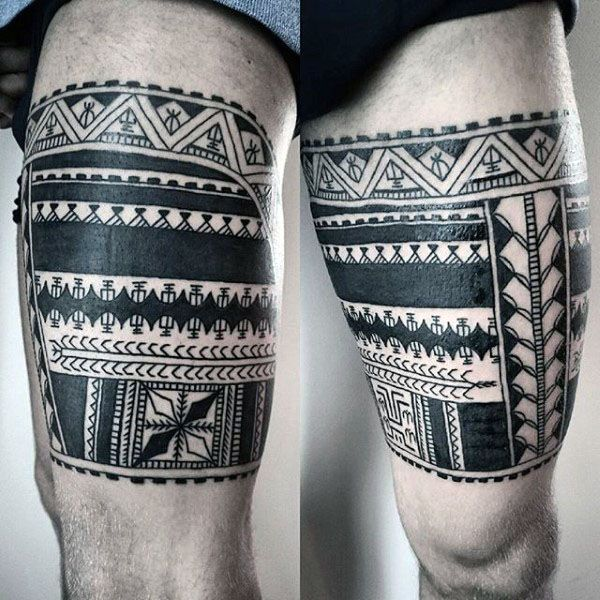 60 Tribal Leg Tattoos For Men Cool Cultural Design Ideas Leg Tattoos Leg Tattoo Men Maori Tattoo