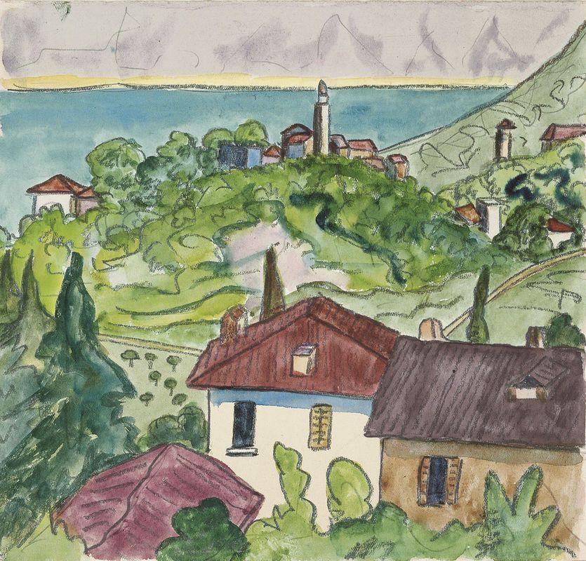 Hermann Hesse Blick Von Sorengo Auf Biogno 1922 Hermann Hesse