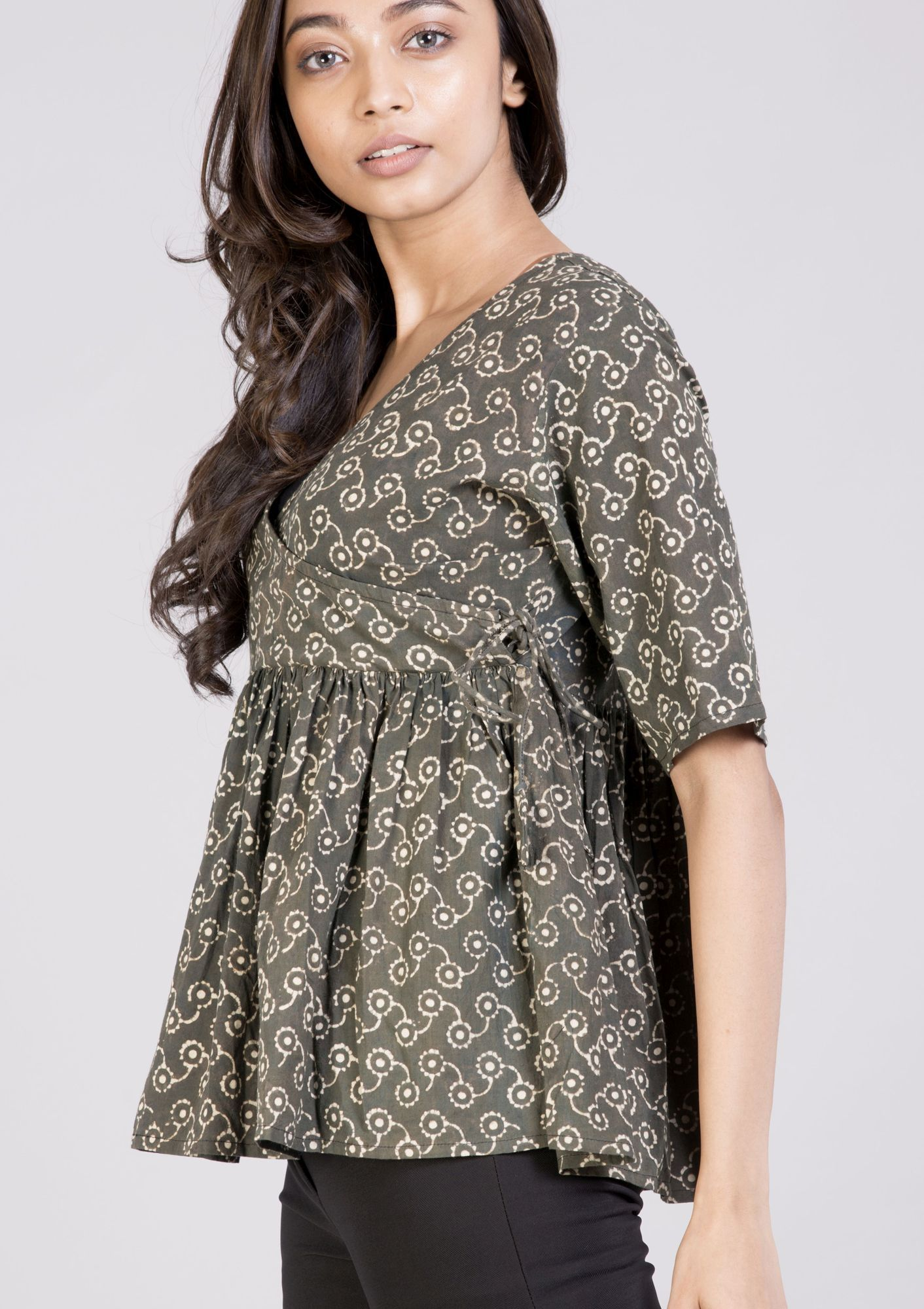 f85b111a45e Hand printed angrakha top tunnic and dress DS This top is made of ...