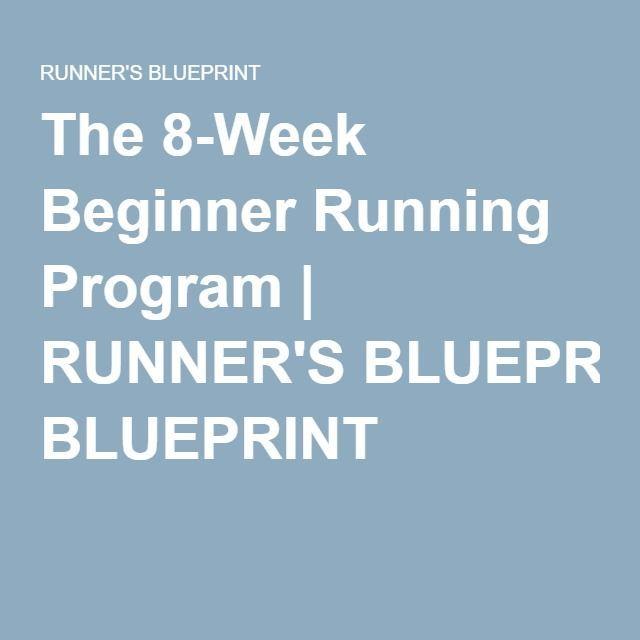 The 8-Week Beginner Running Program RUNNERu0027S BLUEPRINT Running - fresh blueprint computer programs