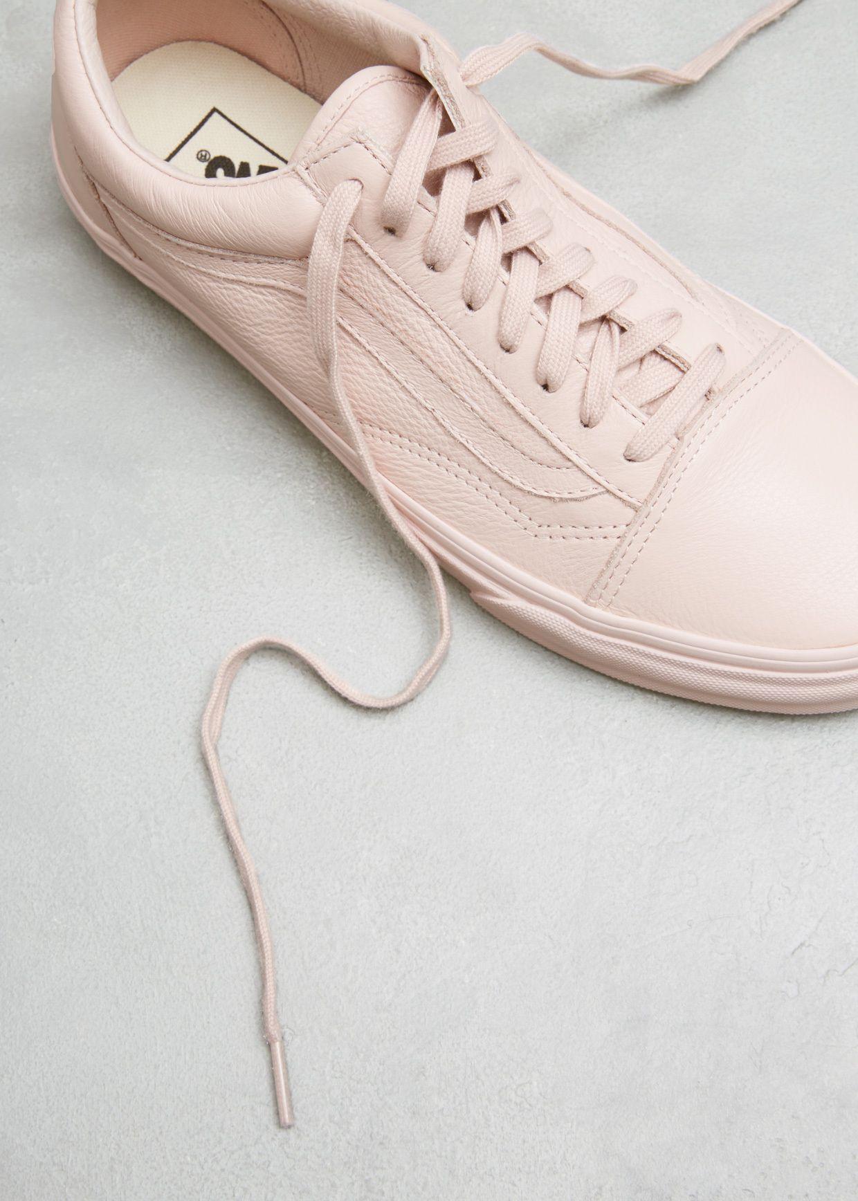 e598ad69d43170 Vans Women s UA Old Skool (Sepia Rose Mono Leather)
