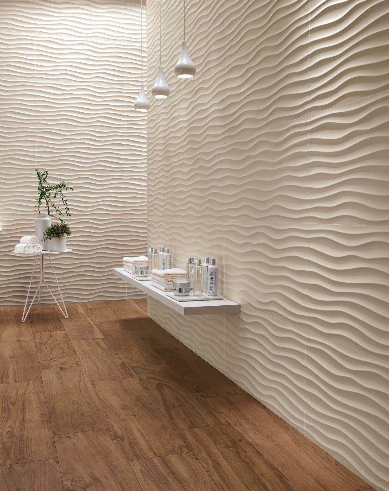 Minoli Tiles 3d Wall Design 3d Wall Design Dune Sand Matt By Minoli Is A New 3d Ceramic Wall Tile To Mak Wall Cladding Wall Design Bathroom Interior Design