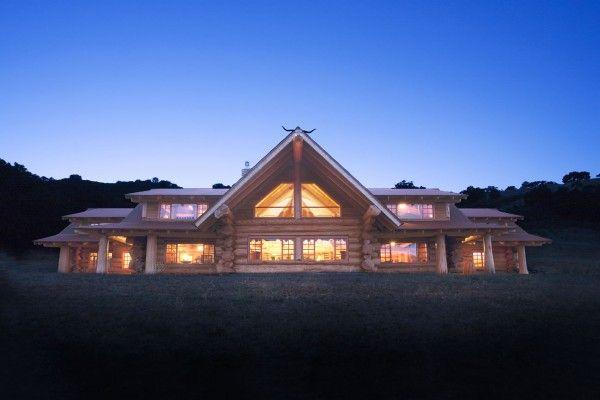 Maison En Bois De Luxe En Rondin Emplis  Ide Maison