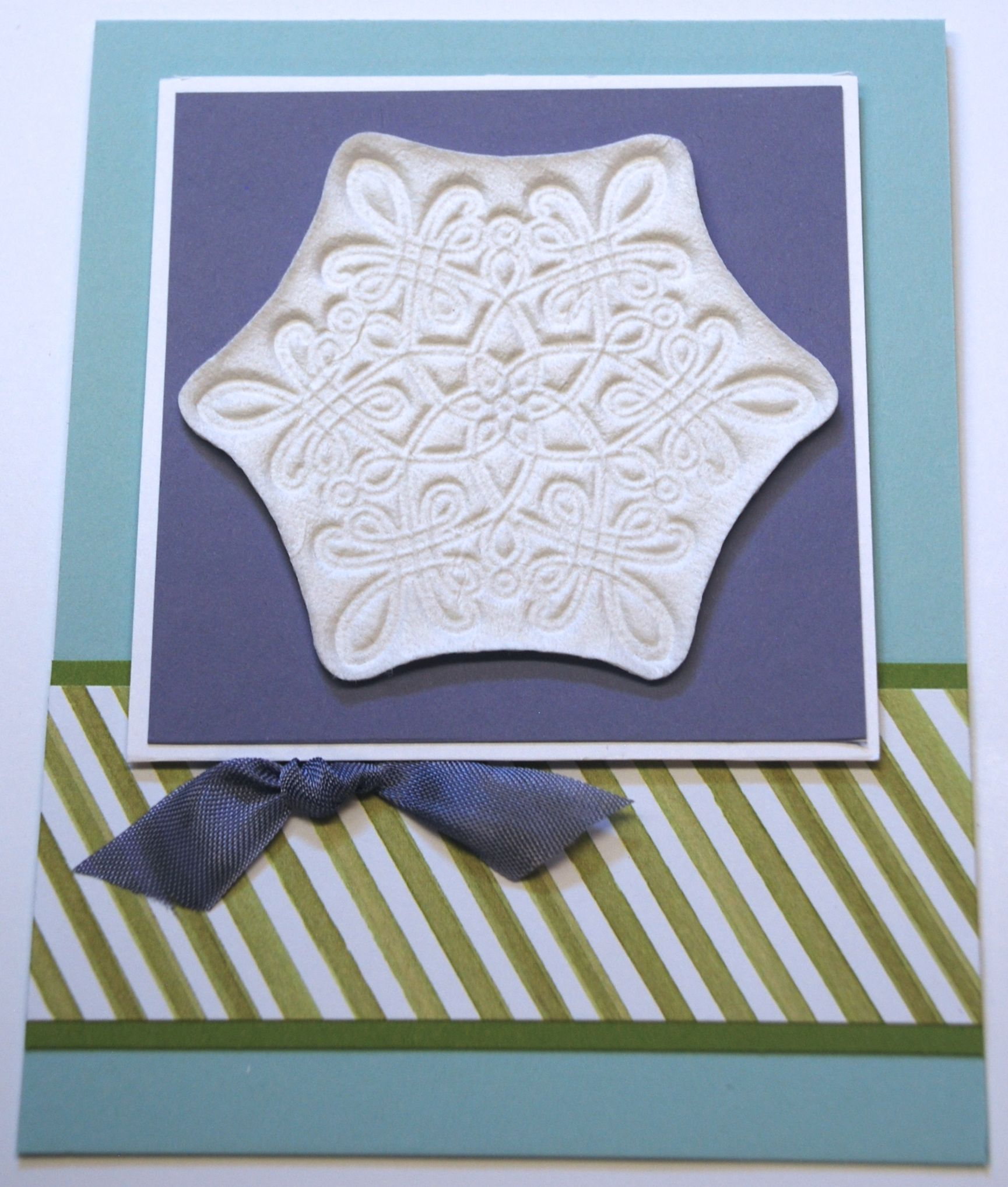 Sept 2015 Technique Class - I Found It Around My House - Toilet Paper Casting - Flurry of Wishes Photopolymer Stamp Set - Pool Party, Old Olive, Whisper White, Wisteria Wonder card stock and Season of Cheer Designer Series Paper