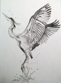 Heron Tattoo Google Search Heron Tattoo Crane Tattoo Body Art Tattoos