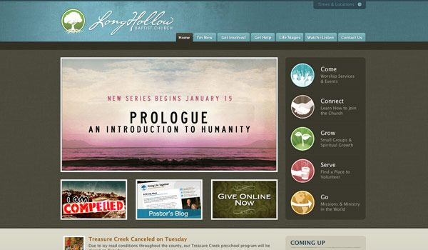 60 of the best church website designs - Church Website Design Ideas
