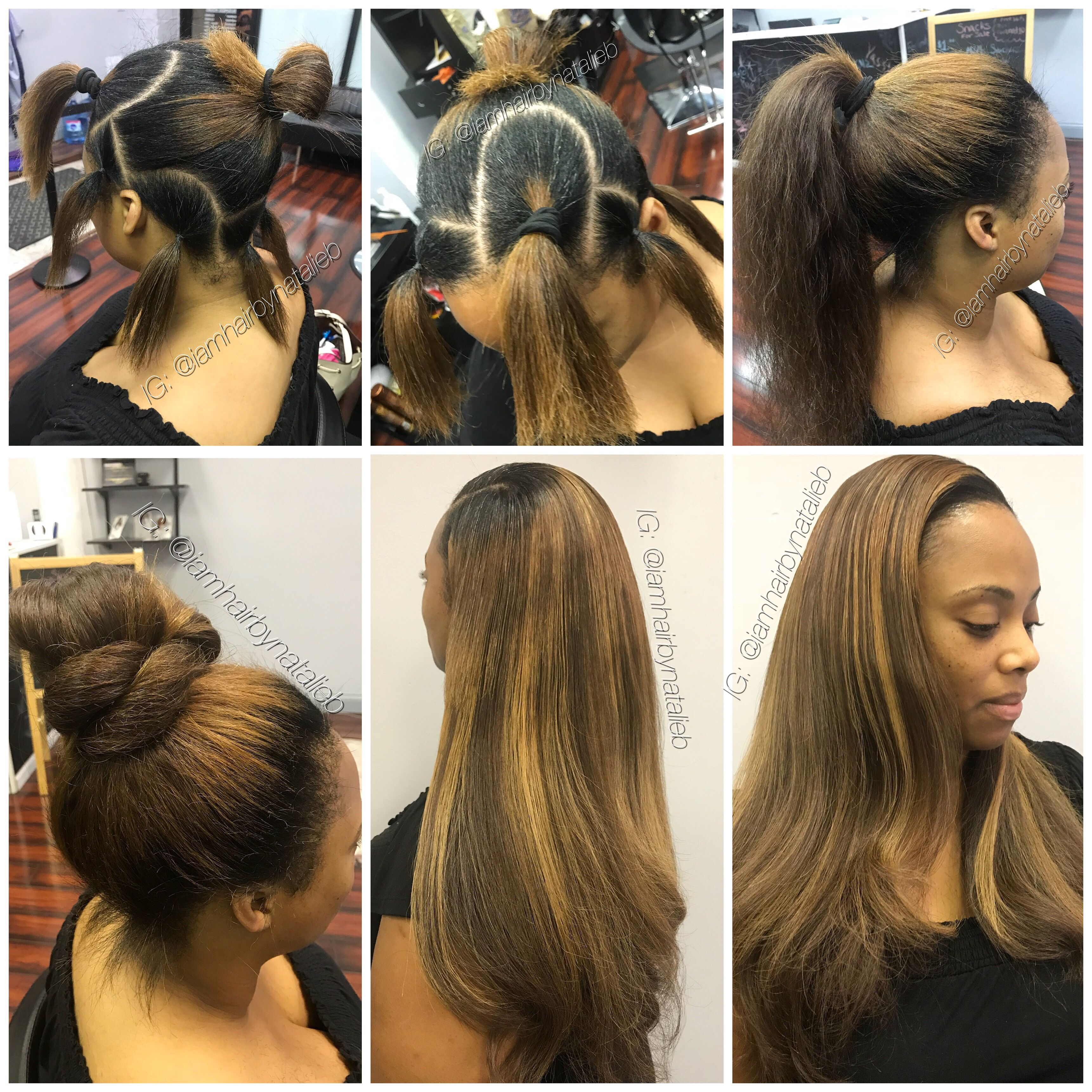 Another Satisfied Client Will You Be Next No Humps No Lumps Versatile Sew In Hair We Sew In Weave Hairstyles Hair Styles Black Hair Extensions