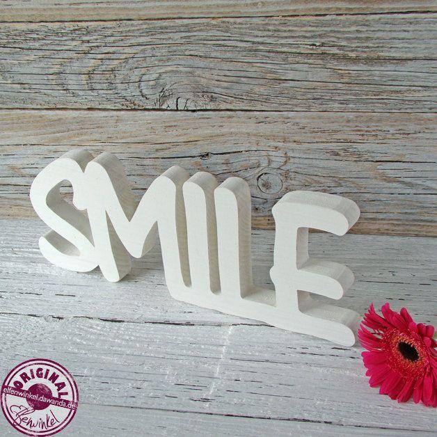 smile schriftzug aus holz von elfenwinkel auf etsy creative schriftzug holz basteln mit. Black Bedroom Furniture Sets. Home Design Ideas