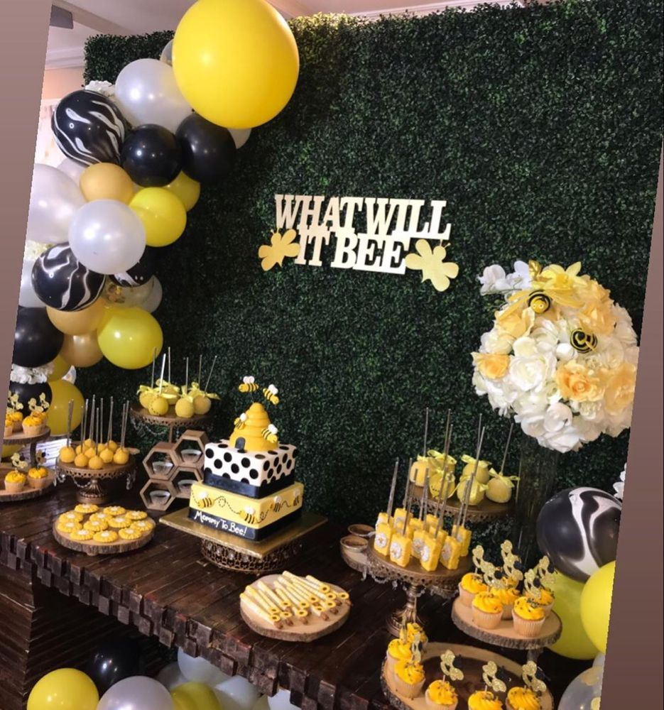 Events By Angie On Instagram Gender Reveal What Will It Bee Grass Wal Baby Gender Reveal Party Bee Themed Gender Reveal Gender Reveal Party Decorations