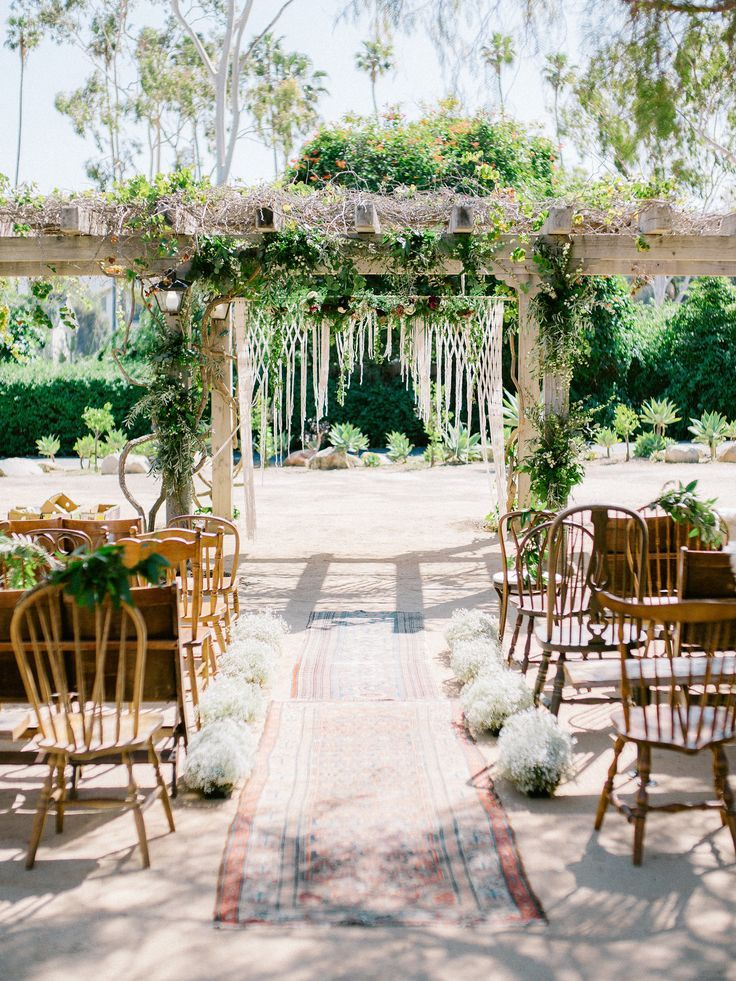A Bohemian Wedding Trend We Re Loving Ceremony Aisles With Rugs a bohemian wedding trend we re loving ceremony aisles