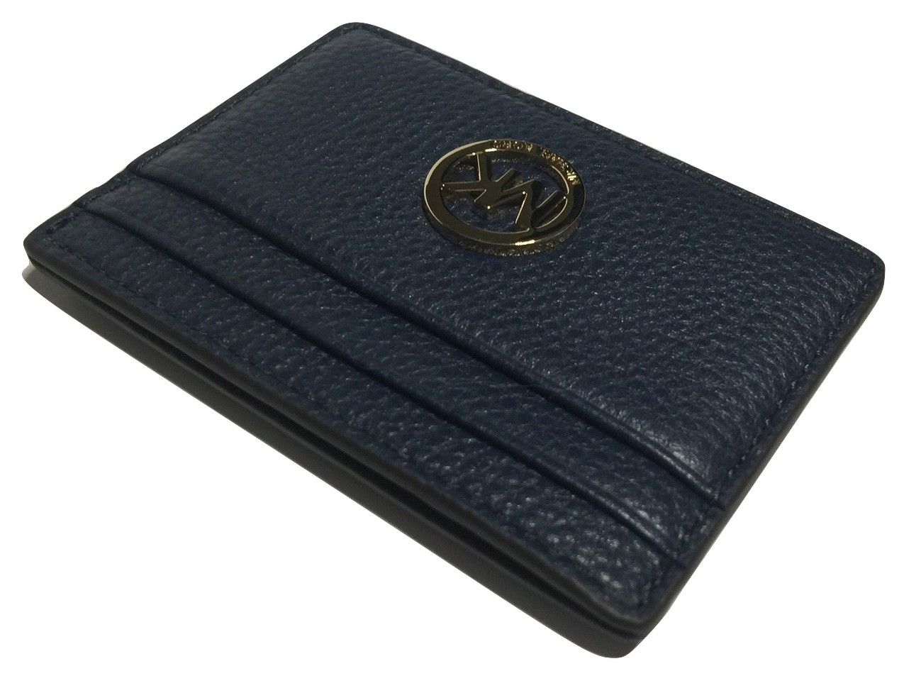 94f2d8c4bc55 Get the lowest price on Michael Kors Navy Blue Credit Card Case Holder and  other fabulous designer clothing and accessories! Shop Tradesy now