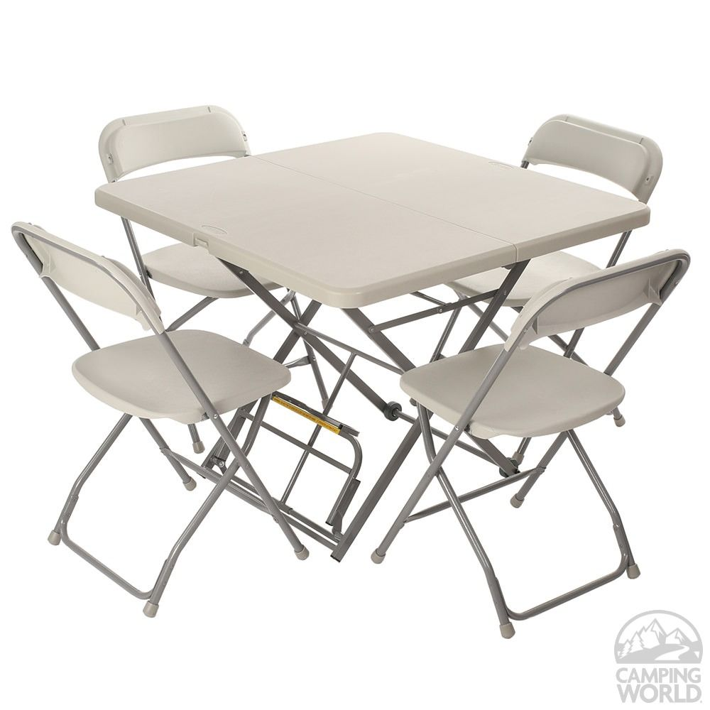 Roll X Folding Table Chairs Set Mac Sports Xroll 100 Folding Tables Camping World Folding Table Table And Chairs Table