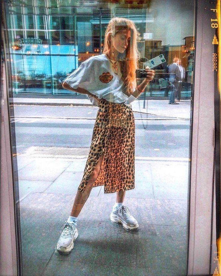 Ladies Summer Outfit Inspiration | UO Ella midi skirt with leopard print | Urban Out… – Outfit.GQ