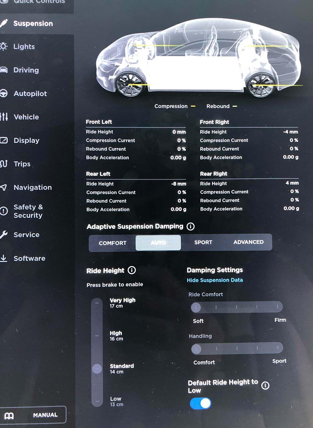Tesla Adaptive Air Suspension Improvements In New Update Tesla Software Update Tesla Update