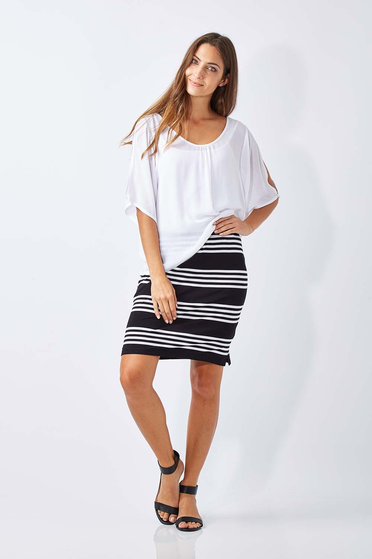 CORDELIA ST - Stripe Jersey Skirt