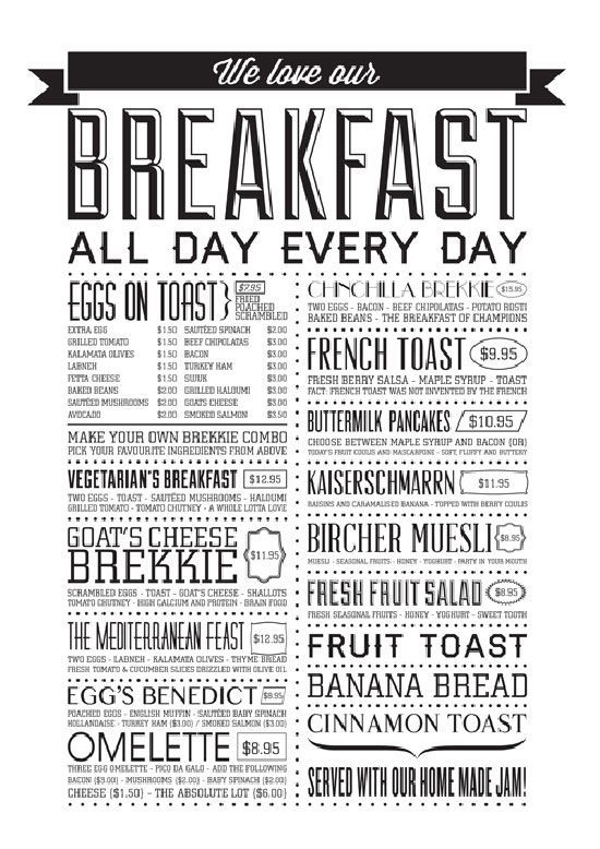 Beautiful Restaurant And Coffee Shop Menus For Inspiration Coffee Shop Menu Menu Restaurant Breakfast Menu Design