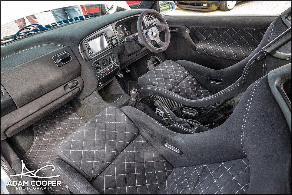 quilted alcantara interior mk3 Golf #volkswagengolfmk3