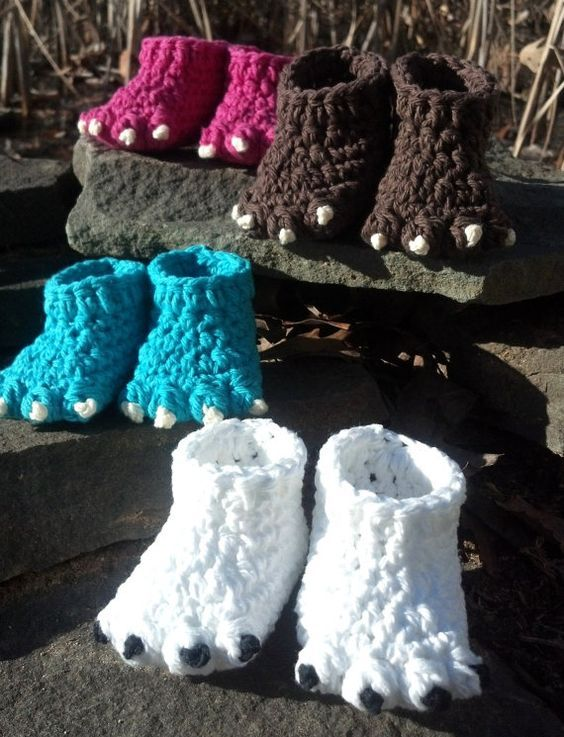 Crochet Pattern Quick And Easy Cute Monster Or Animal Foot Baby