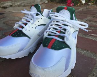 The ORIGINAL Custom Luxury Huarache, High End Inspired Nike Huarache Run  Triple White, Nike custom shoe, Nike huarache custom, nike shoes.