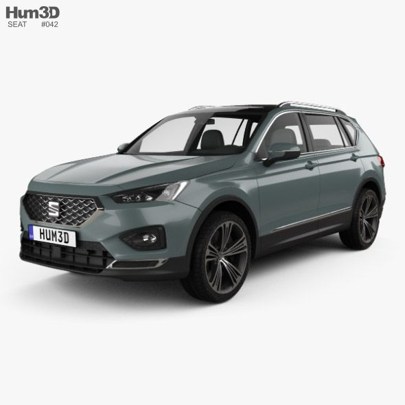 Seat Tarraco 2019. Fully Editable And Reusable 3D Model Of