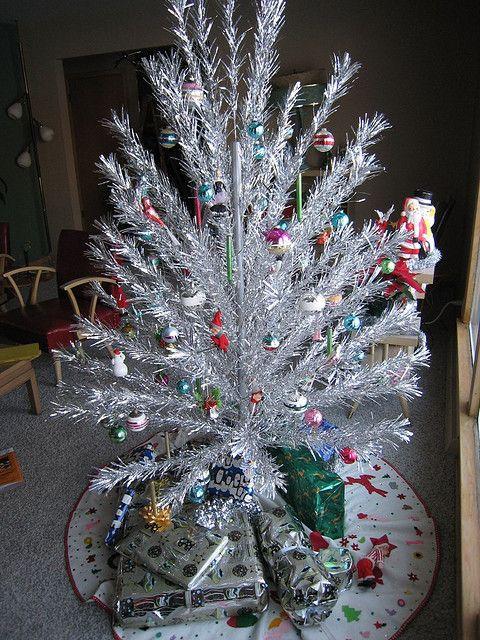 Vintage 1950 S Era Christmas Tree Tinsel Christmas Tree Silver Christmas Tree Vintage Christmas