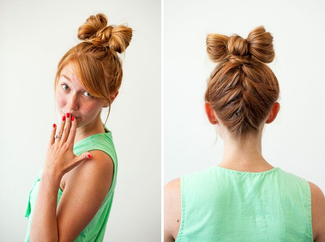 3 new ways to add hair bows to your do bow buns hair bow and 3 new ways to add hair bows to your do urmus Choice Image