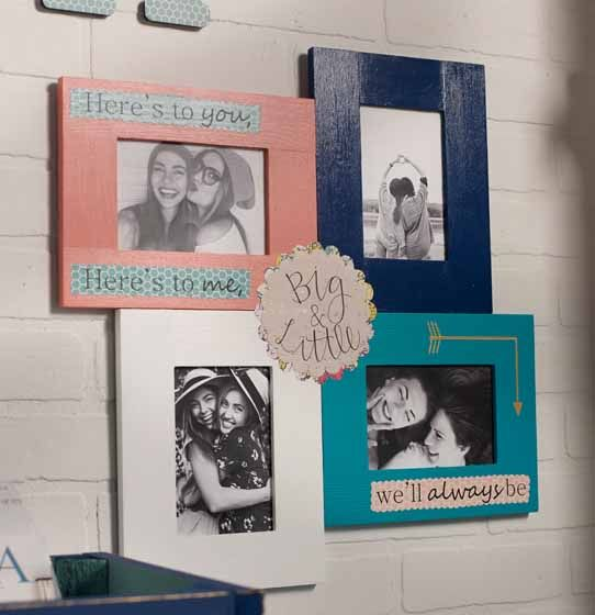 Diy Personalized Picture Frames Picture Frame Projects Sorority