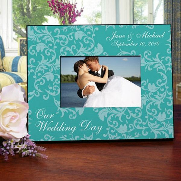 Treasure the memories from your special day with this Personalized Wedding Day Picture Frame. Customized with any names and date, this personalized wedding frame makes for a fantastic wedding gift for the happy couple.