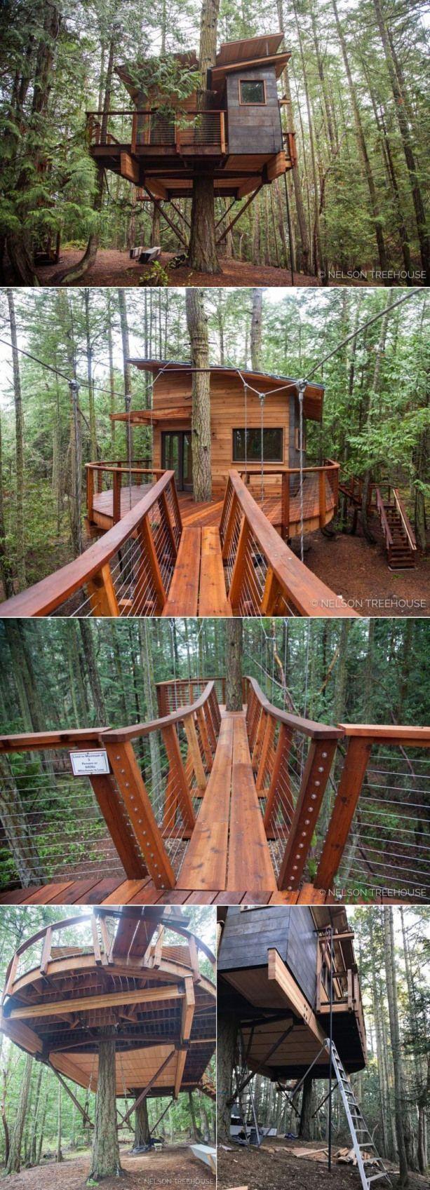 Photo of Das Baumhaus hat eine Gesamtfläche von 415 Quadratmetern, einschließlich der D…,  #Baumhaus…